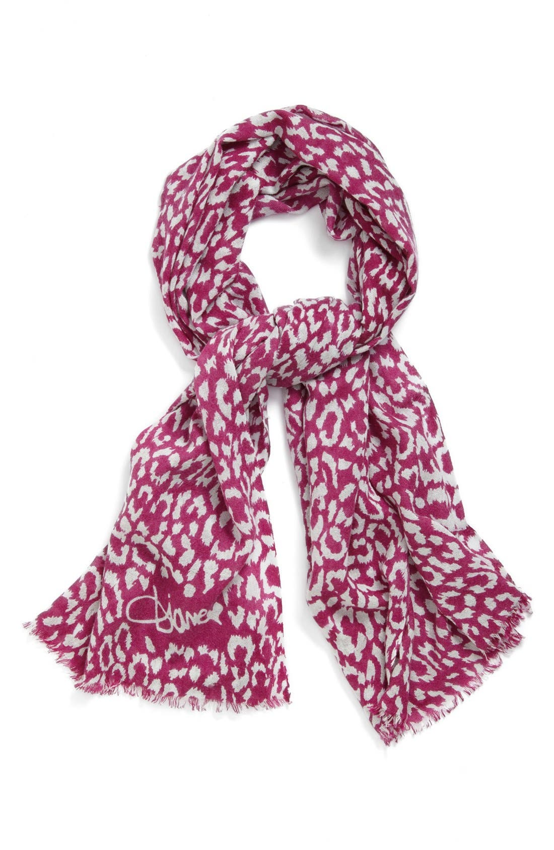'Kenley' Cashmere Scarf,                             Main thumbnail 1, color,                             Spotted Cat Luxe Pink
