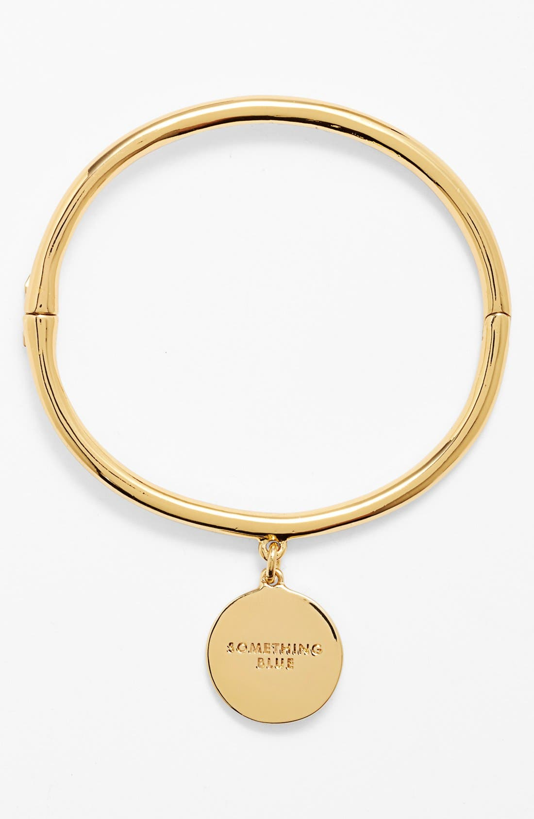Alternate Image 1 Selected - kate spade new york 'bridal - something blue' hinged charm bangle