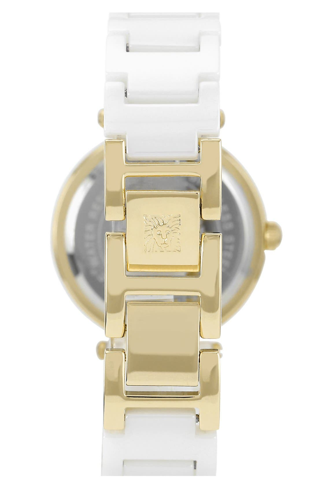 Alternate Image 2  - Anne Klein Round Ceramic Bracelet Watch