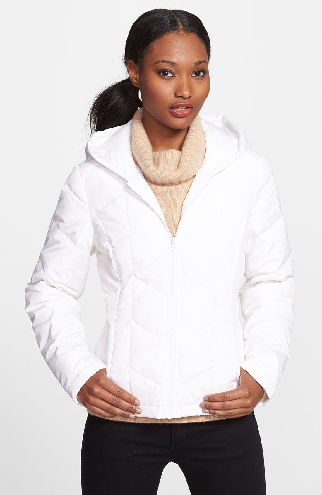 Main Image - Halogen® Hooded Down Jacket