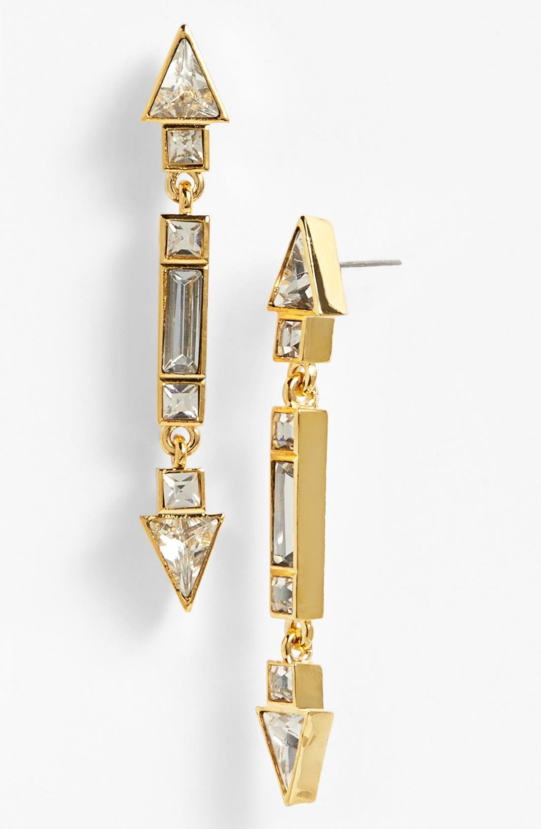 Alternate Image 1 Selected - Vince Camuto 'Crystal Clear' Linear Drop Earrings