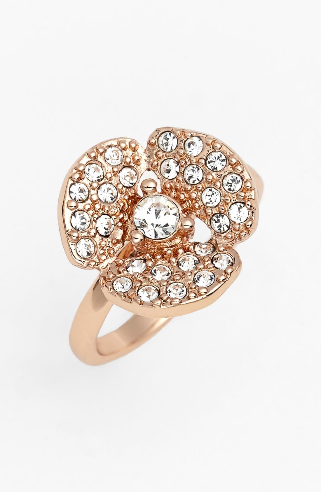 Main Image - kate spade new york 'disco pansy' mini pavé flower ring