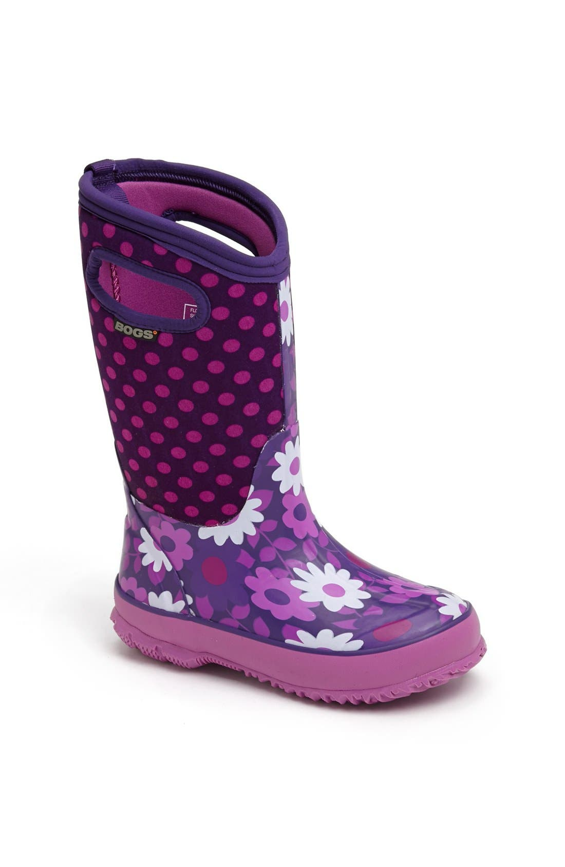 Main Image - Bogs 'Classic High - Flower Dot' Waterproof Boot (Walker, Toddler, Little Kid & Big Kid)