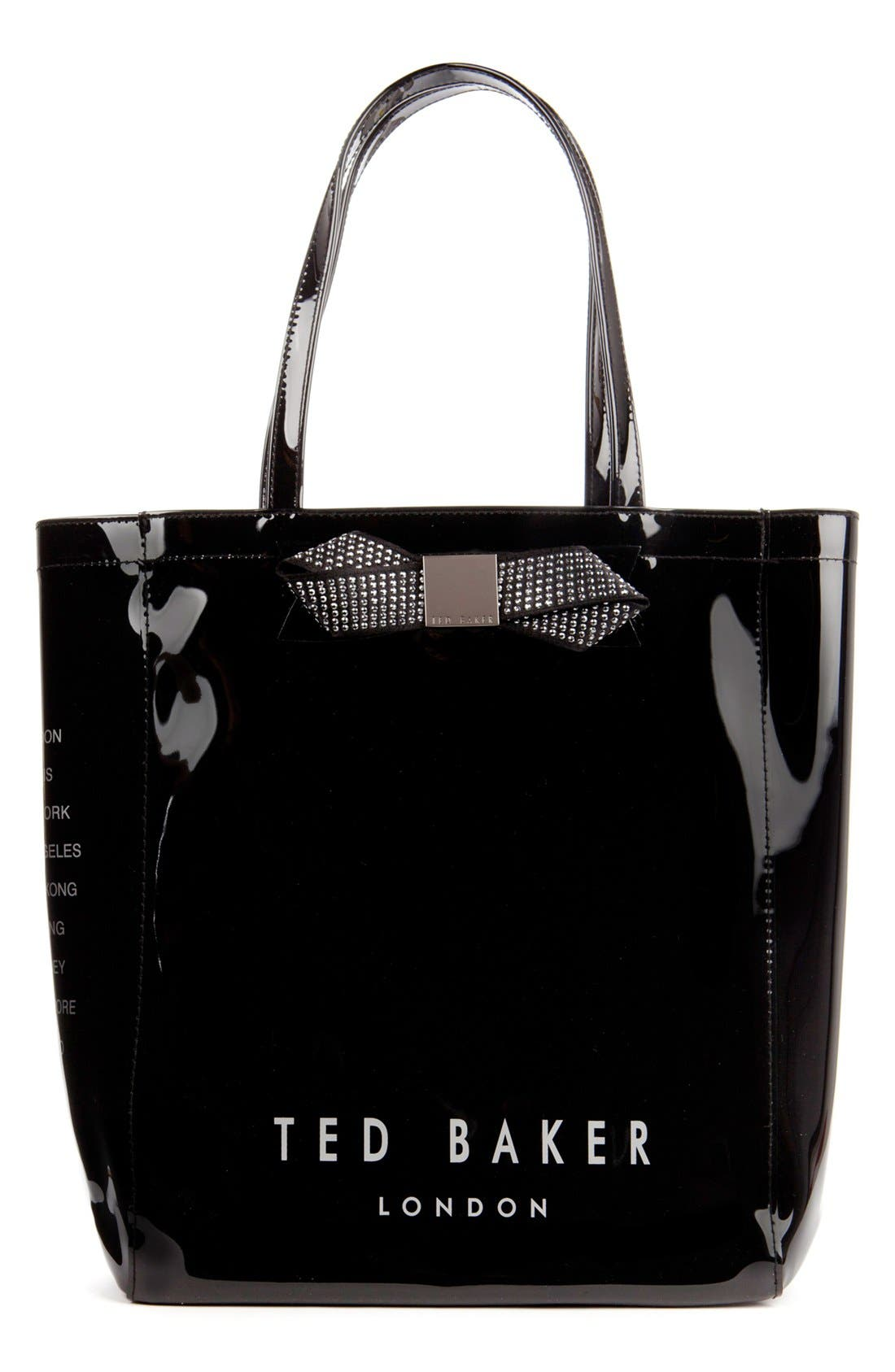 Main Image - Ted Baker London 'Gemcon' Metallic Bow Tote