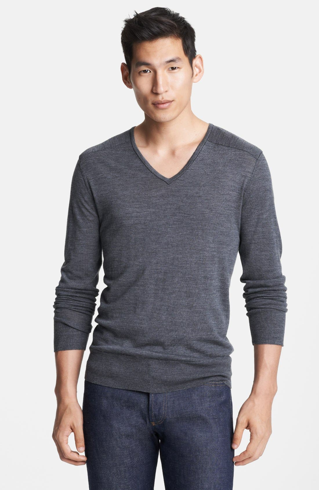 Alternate Image 1 Selected - John Varvatos Collection Merino Wool V-Neck Sweater