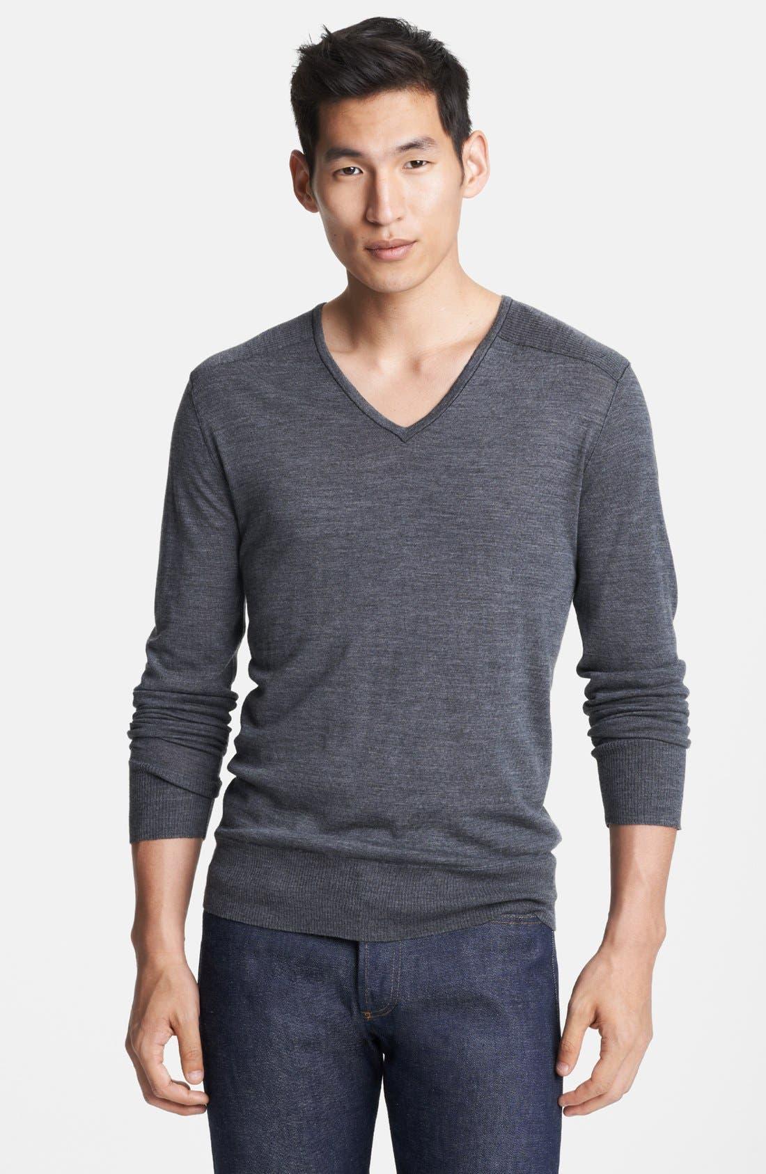 Main Image - John Varvatos Collection Merino Wool V-Neck Sweater