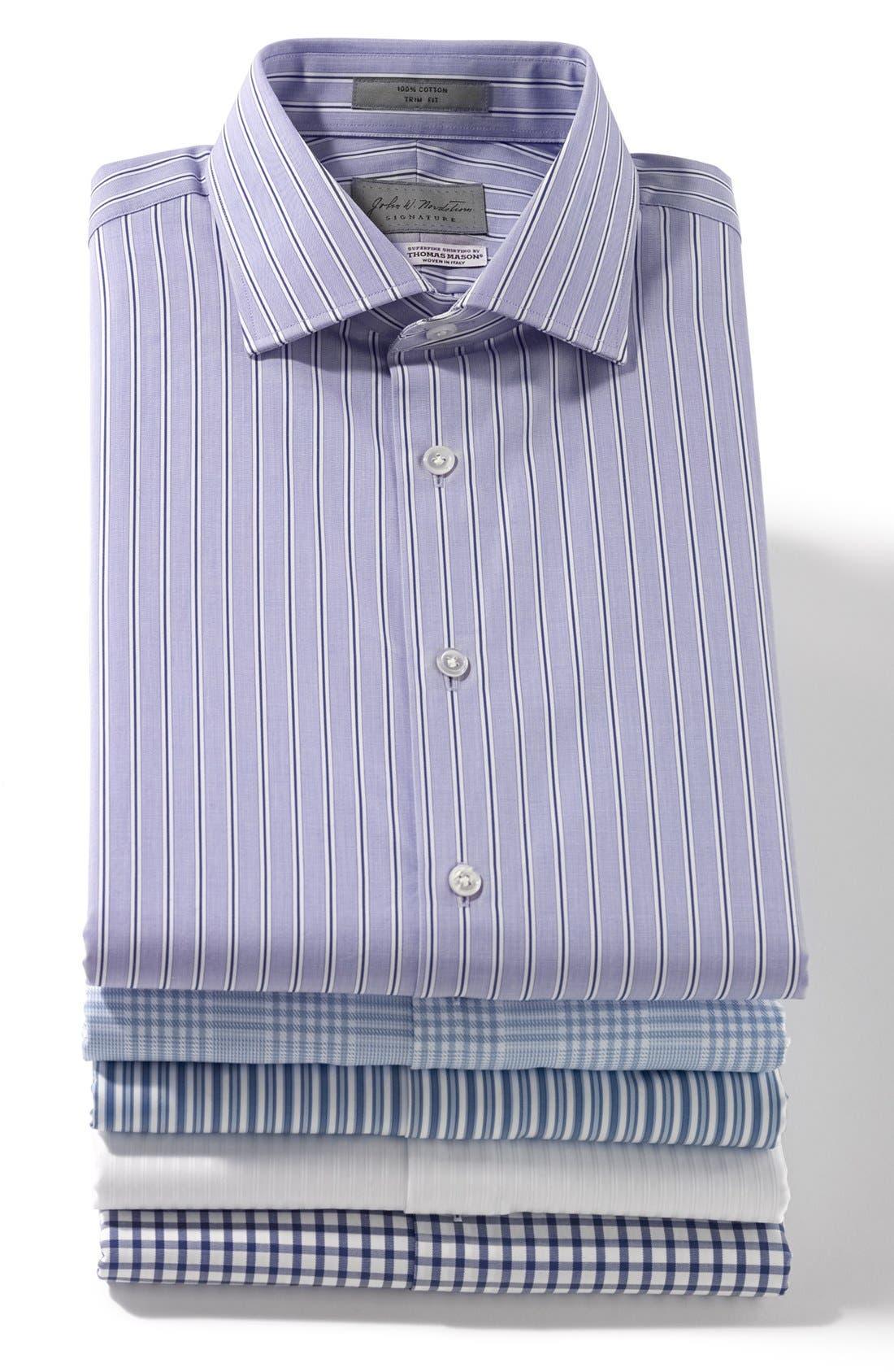 Alternate Image 3  - John W. Nordstrom® Signature Trim Fit Stripe Dress Shirt