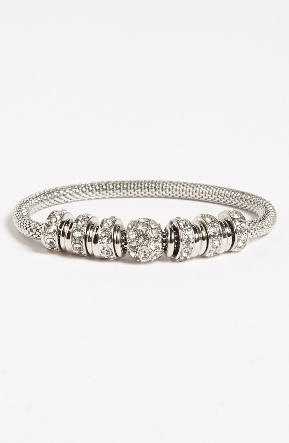 Main Image - Anne Klein Crystal Stretch Bracelet