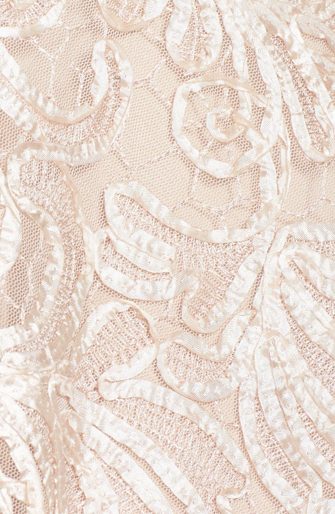 Alternate Image 3  - Taylor Dresses Soutache Lace Fit & Flare Dress