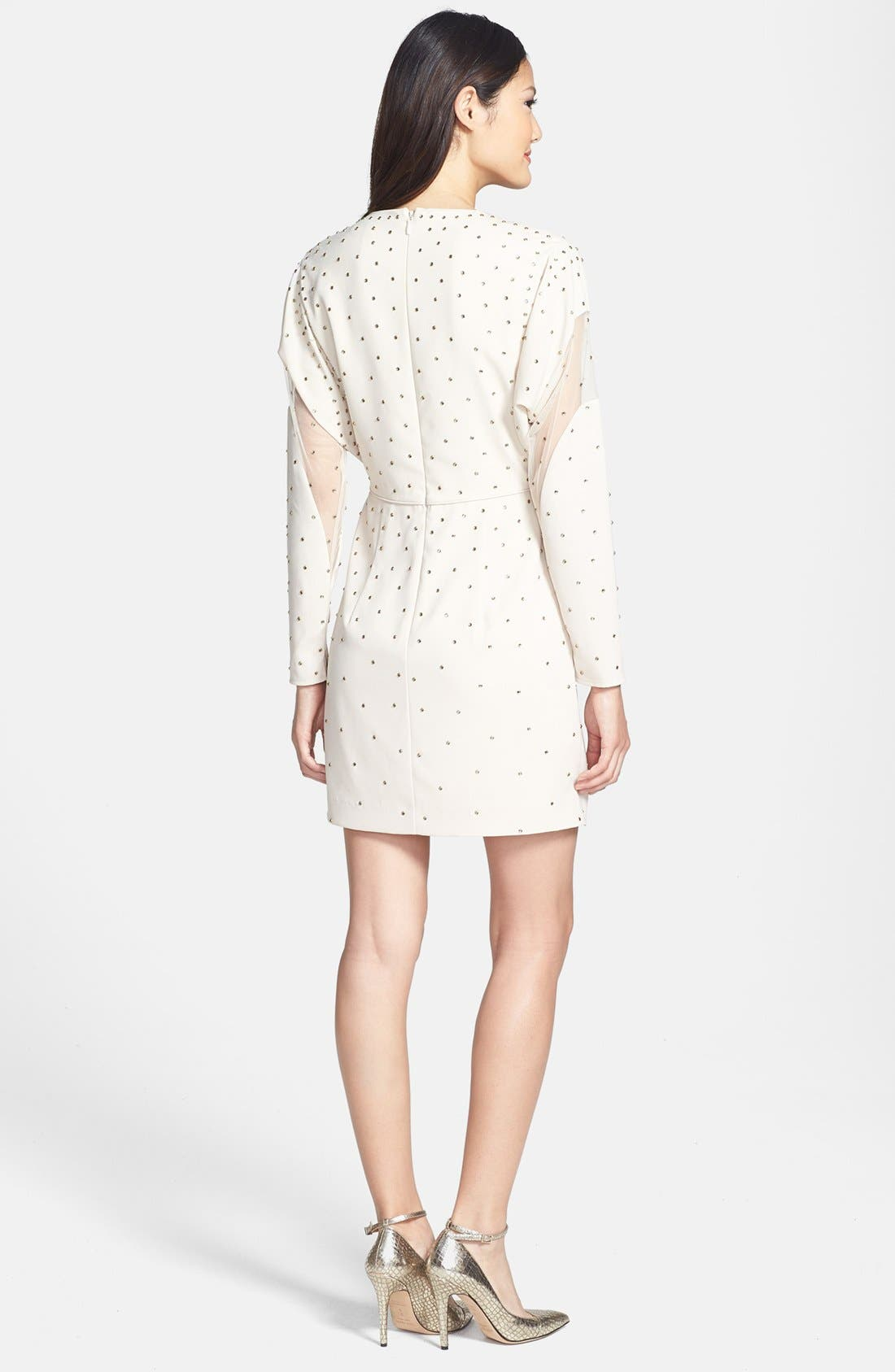 Alternate Image 2  - BCBGMAXAZRIA Illusion Cutout Embellished Dress