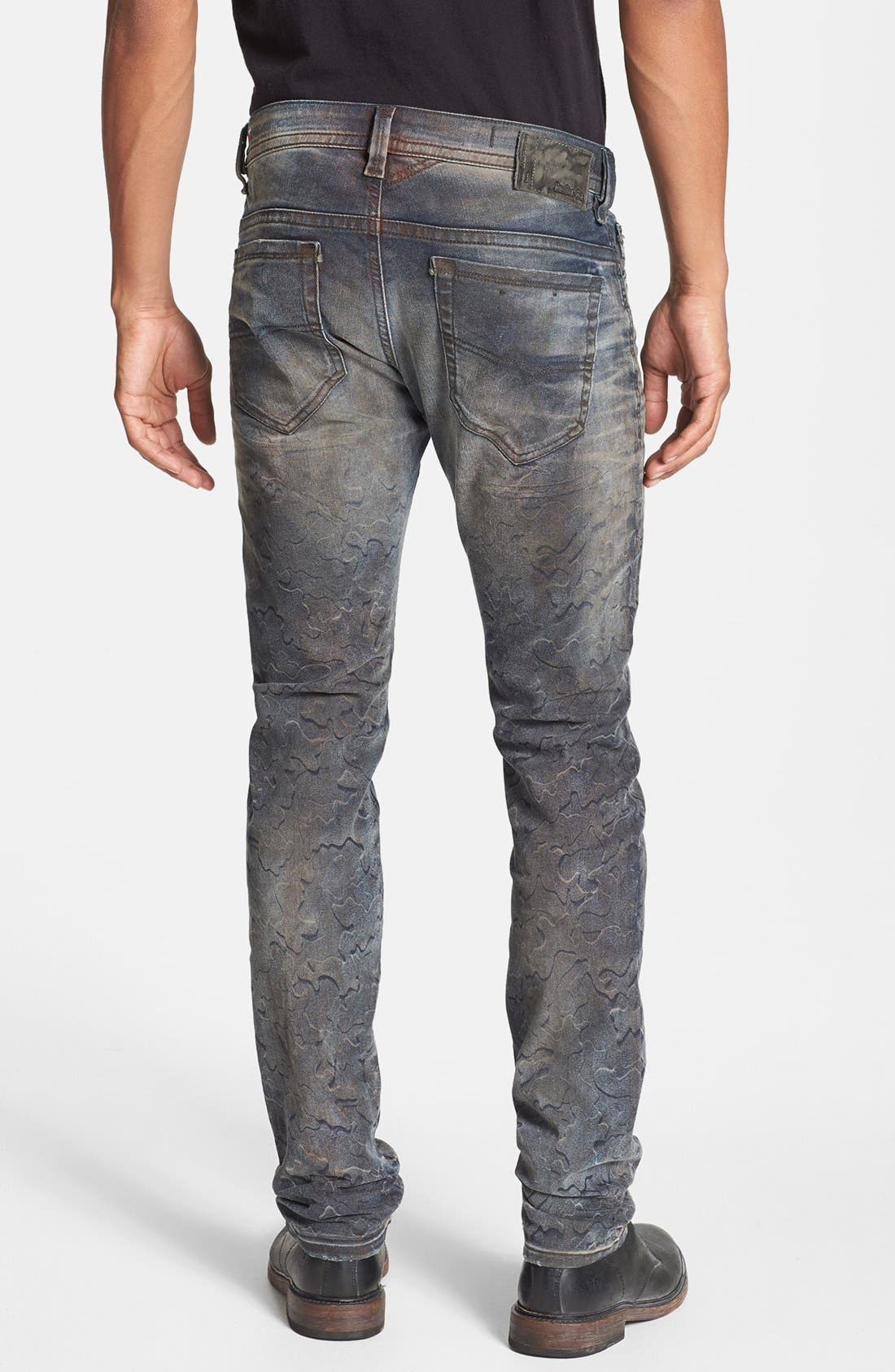 Alternate Image 2  - DIESEL® 'Thavar' Skinny Fit Jeans (0821C)