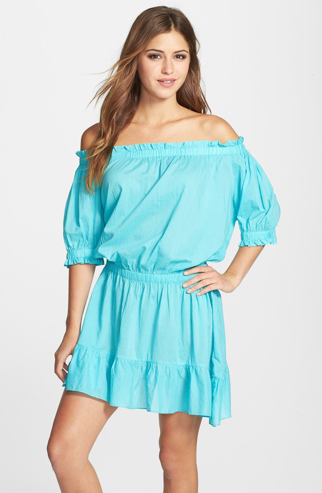 Alternate Image 1 Selected - MICHAEL Michael Kors Off the Shoulder Cover-Up Dress