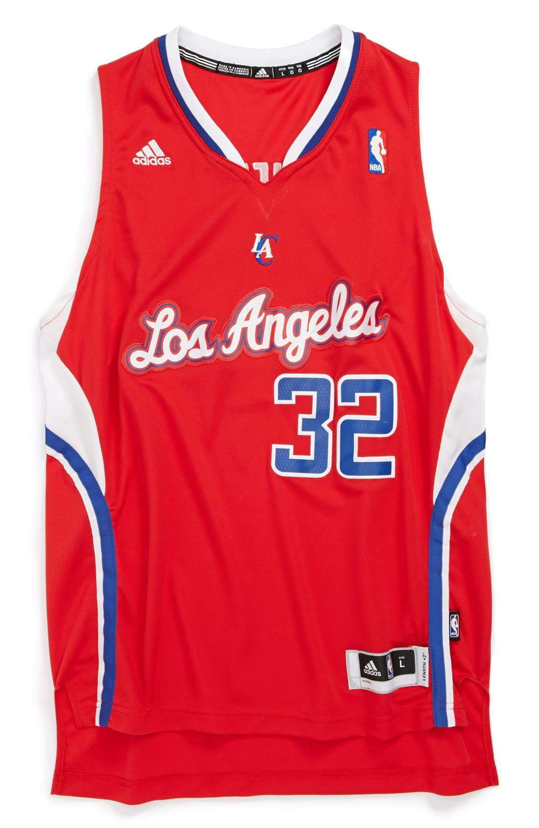 Main Image - adidas 'Los Angeles Clippers, Blake Griffin - Swingman Road' Jersey (Big Boys)