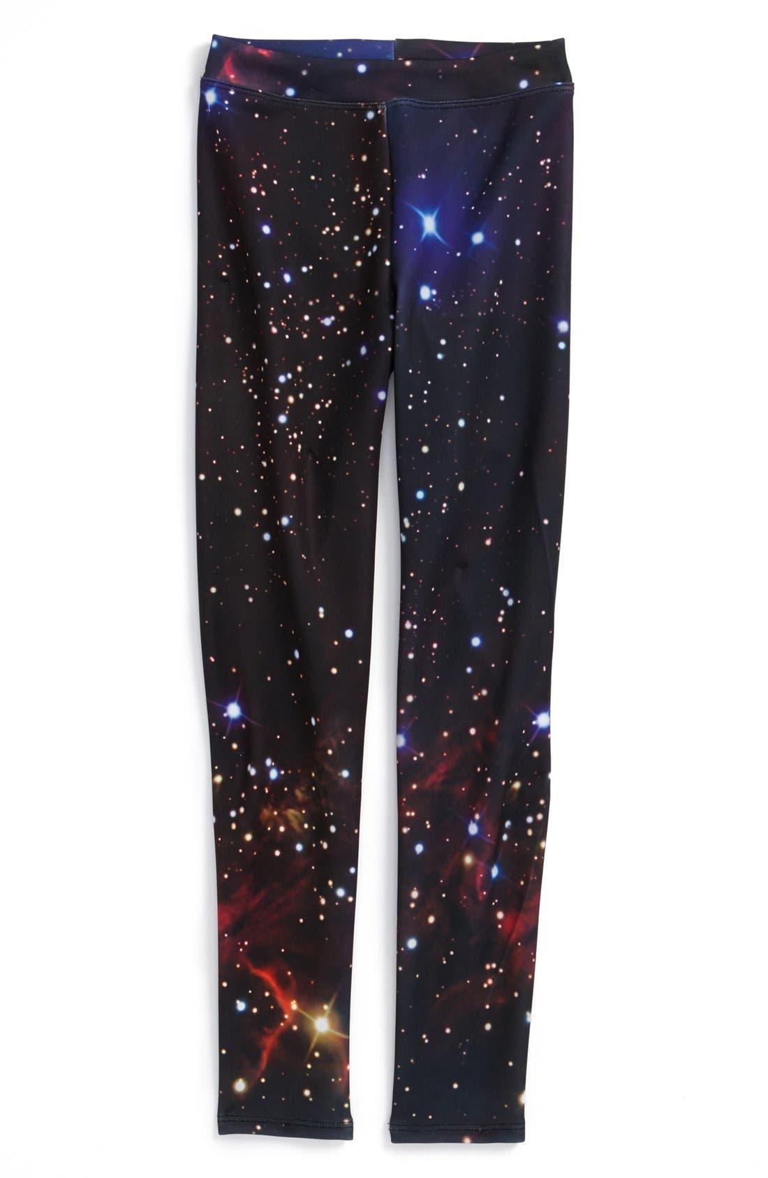 Alternate Image 1 Selected - Dirtee Hollywood 'Galaxy' Leggings (Big Girls)