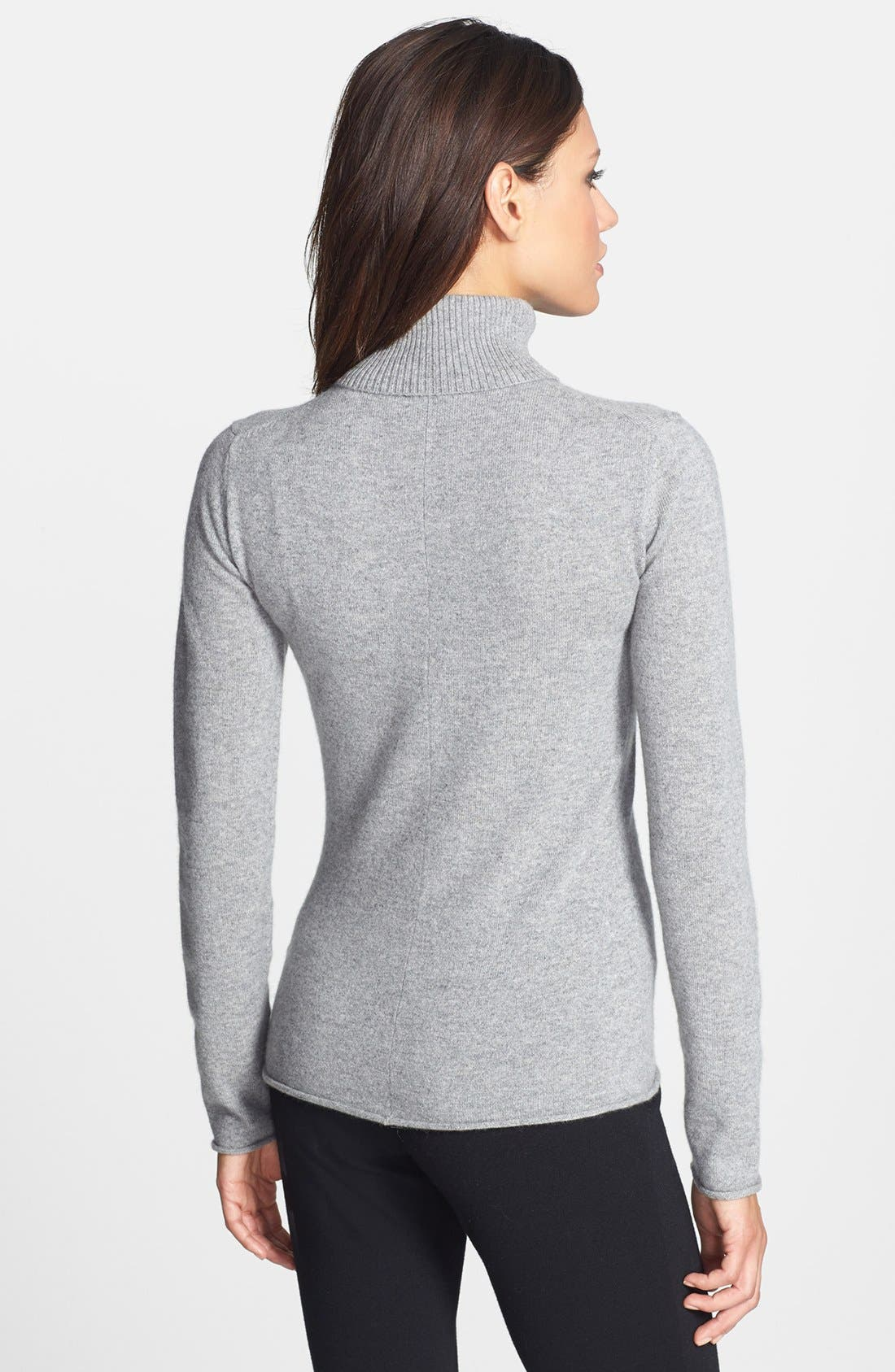 Alternate Image 2  - Pure Amici Cashmere Turtleneck Sweater