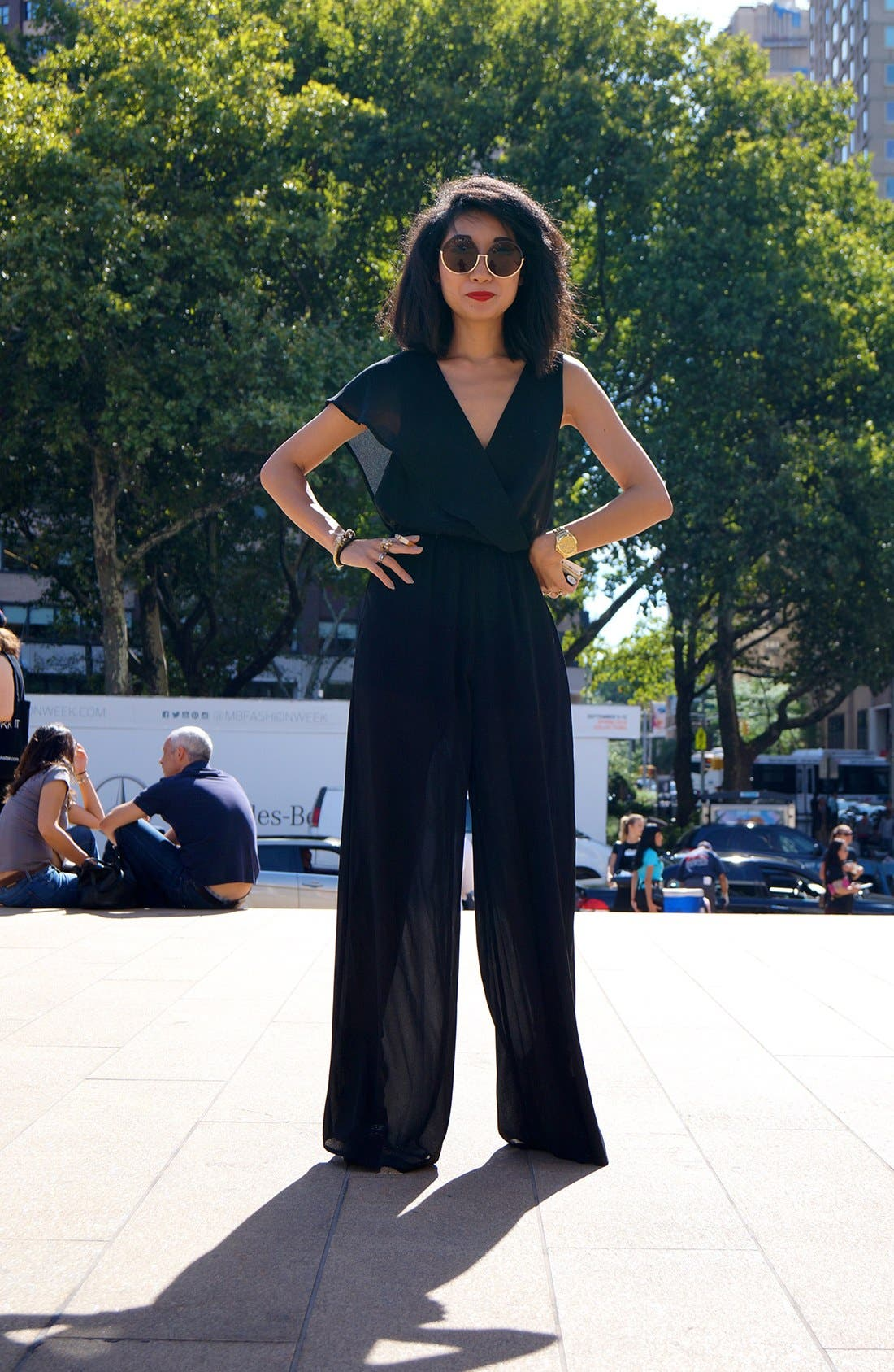 Alternate Image 1 Selected - Jumpsuit Swag Street Style Look