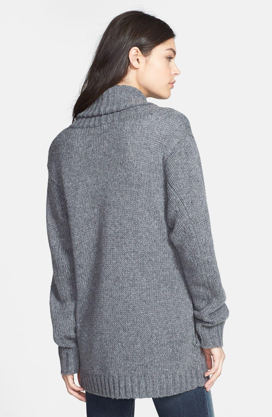 Alternate Image 2  - Hinge® Shawl Collar Heathered Cardigan