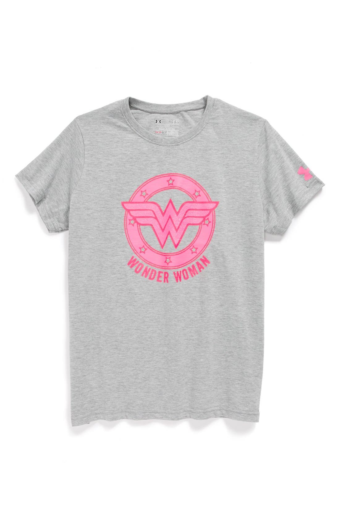 Alternate Image 1 Selected - Under Armour 'Wonder Woman' Charged Cotton® Tee (Little Girls & Big Girls)