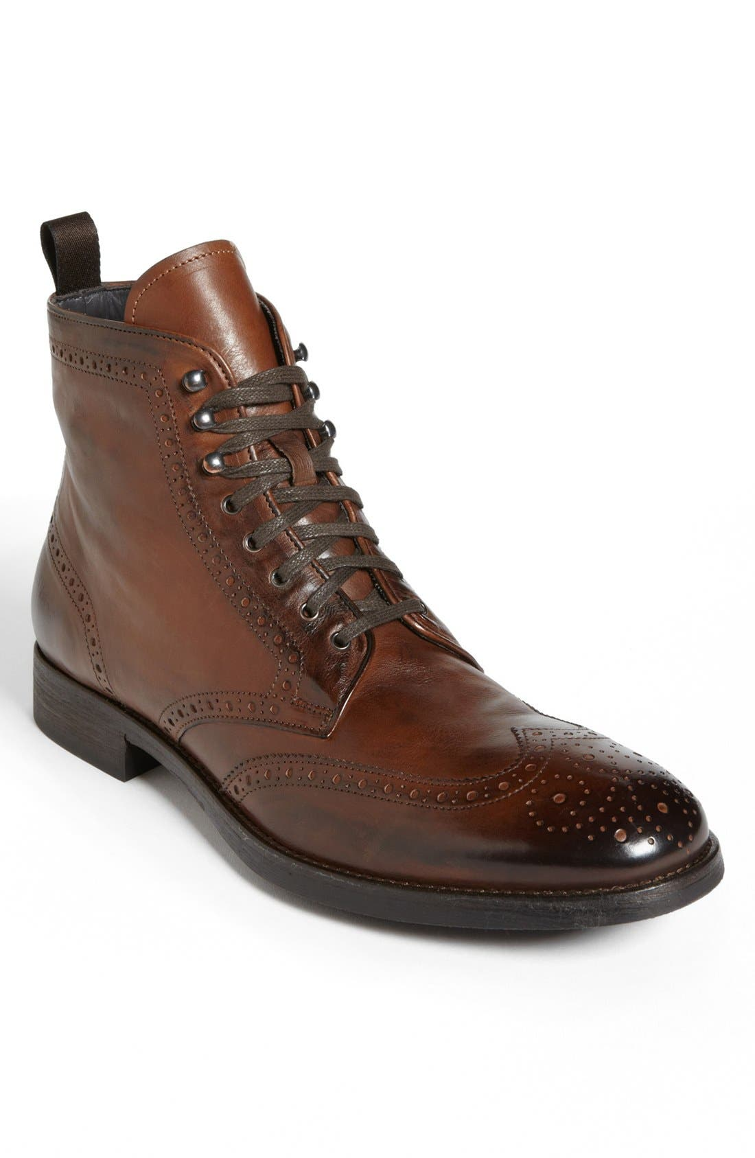 'Brennan' Wingtip Boot,                             Main thumbnail 1, color,                             Cognac