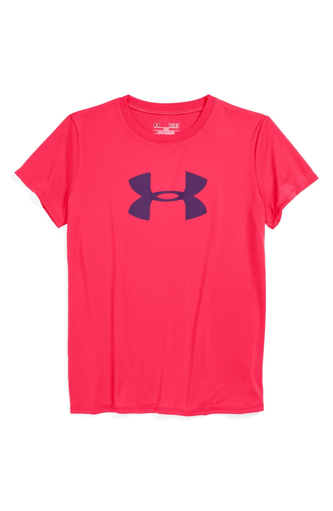 Alternate Image 1 Selected - Under Armour Logo HeatGear® Tee (Big Girls)
