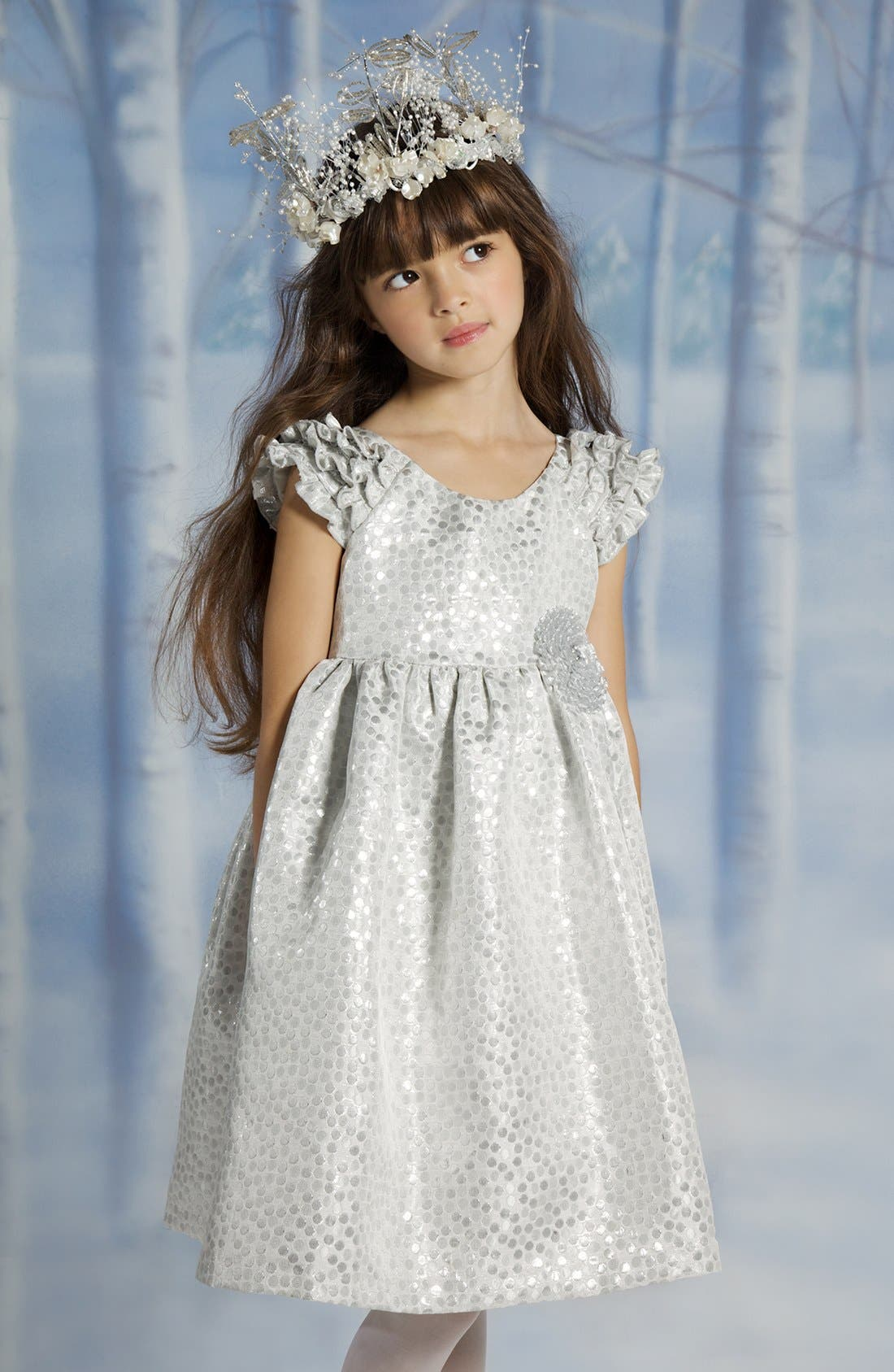 Alternate Image 3  - Laura Ashley Brocade Dress (Toddler Girls)