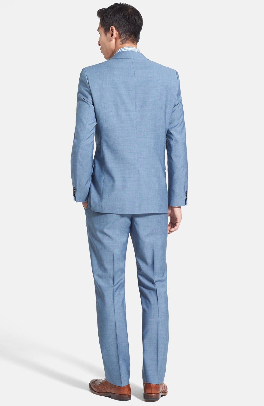 Alternate Image 2  - HUGO 'Astro/Hill' Extra Trim Fit Wool Blend Suit