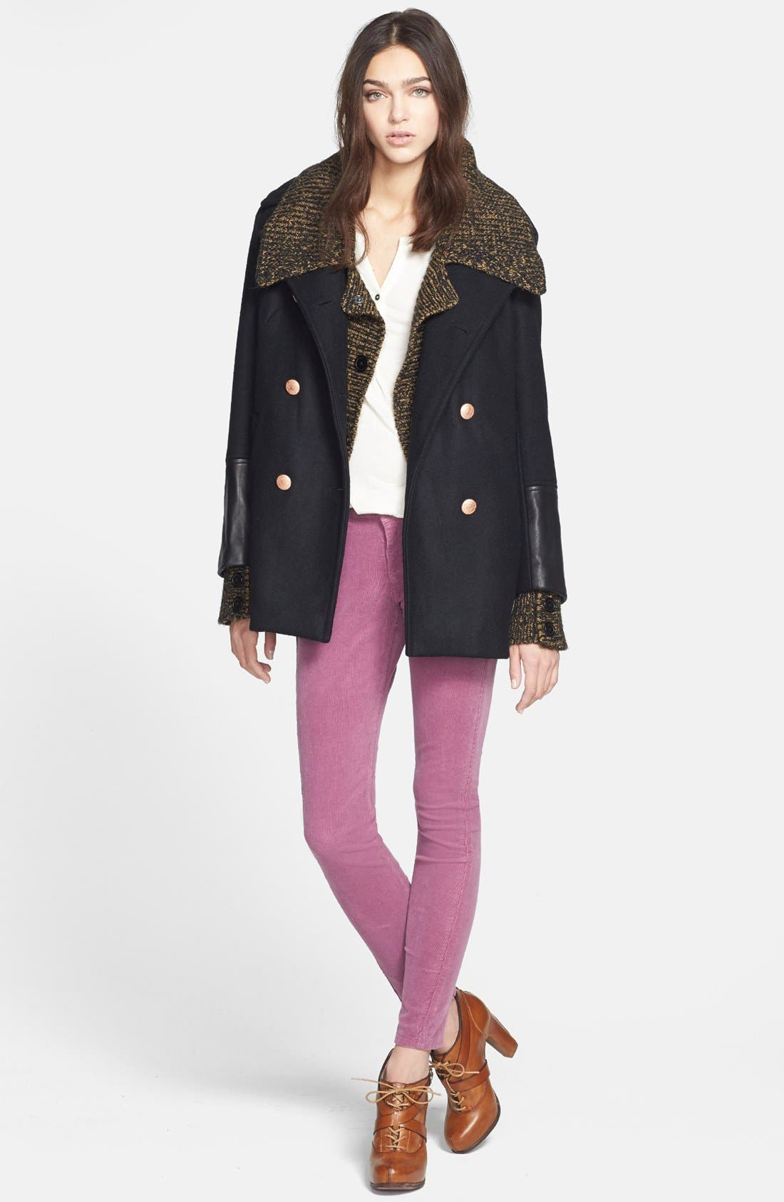 Alternate Image 4  - Adrianna Papell Double Breasted Sweater Jacket