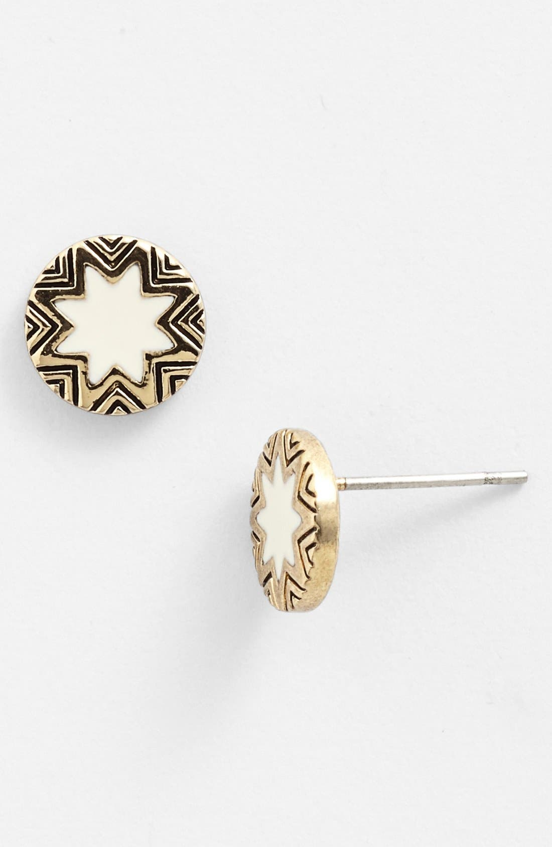 Alternate Image 1 Selected - House of Harlow 1960 Sunburst Engraved Stud Earrings