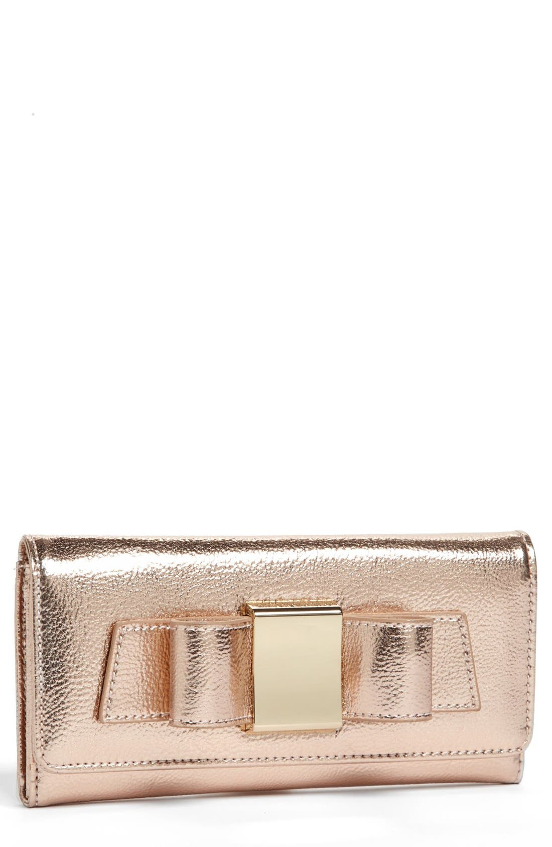 Main Image - Ivanka Trump 'Blair' Metallic Wallet