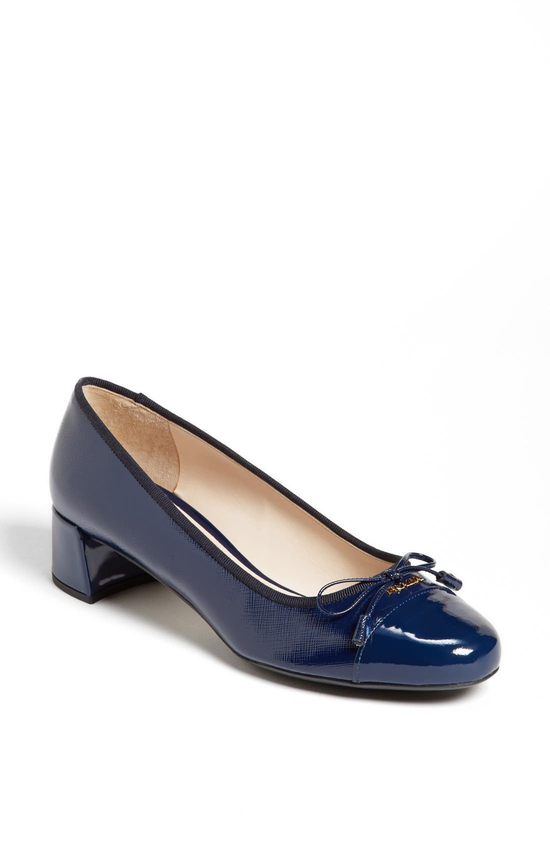 Alternate Image 1 Selected - Prada Round Cap Toe Pump