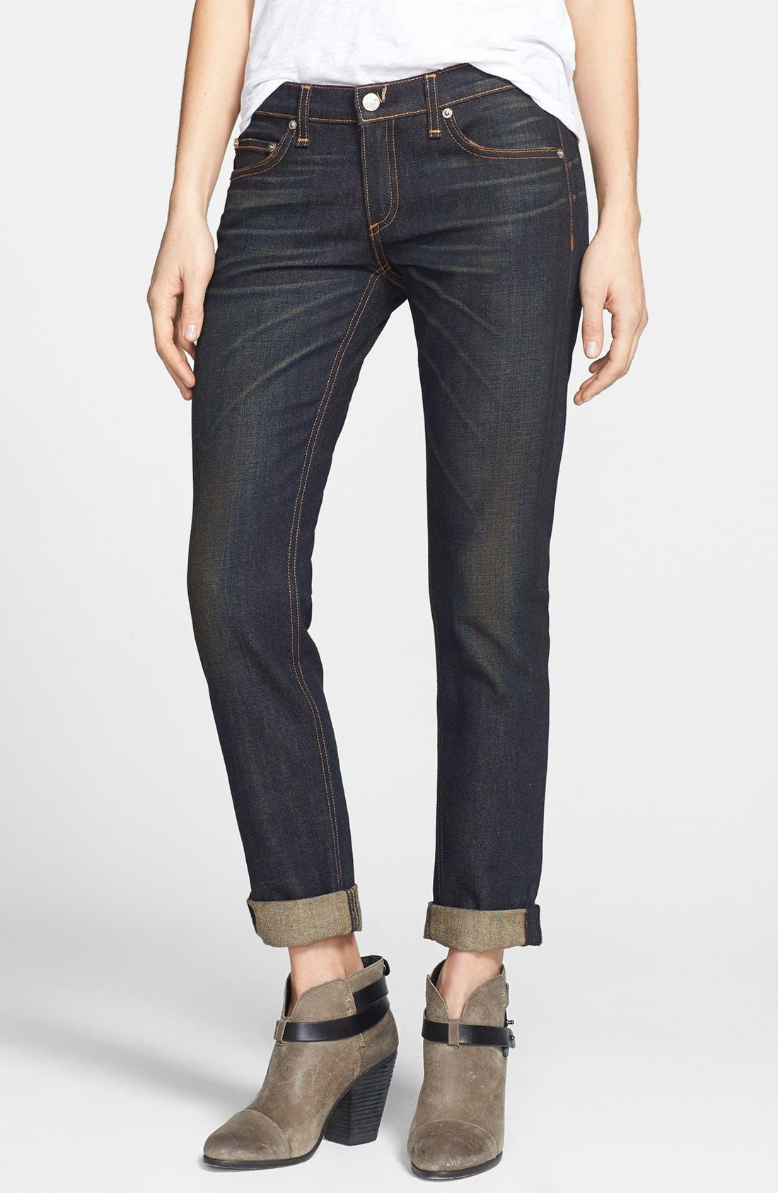 Alternate Image 1 Selected - rag & bone/JEAN 'The Dre' Slim Fit Boyfriend Jeans (Charing)