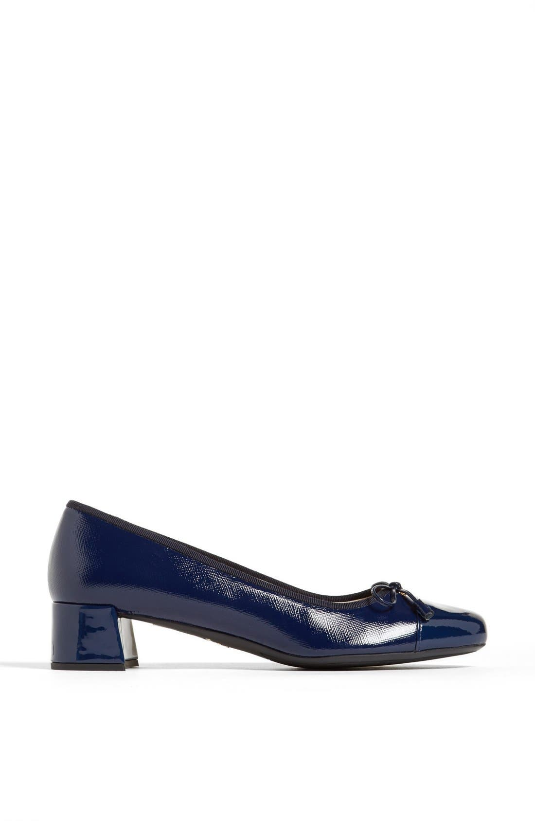 Alternate Image 4  - Prada Round Cap Toe Pump