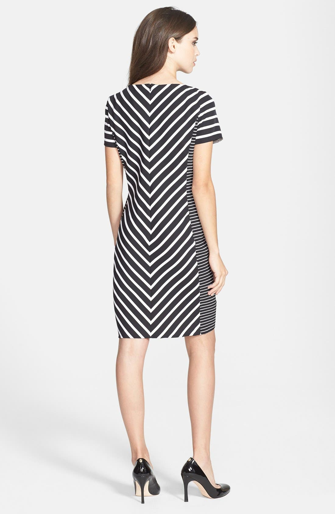 Alternate Image 2  - Gabby Skye Belted Burnout Organza Fit & Flare Dress