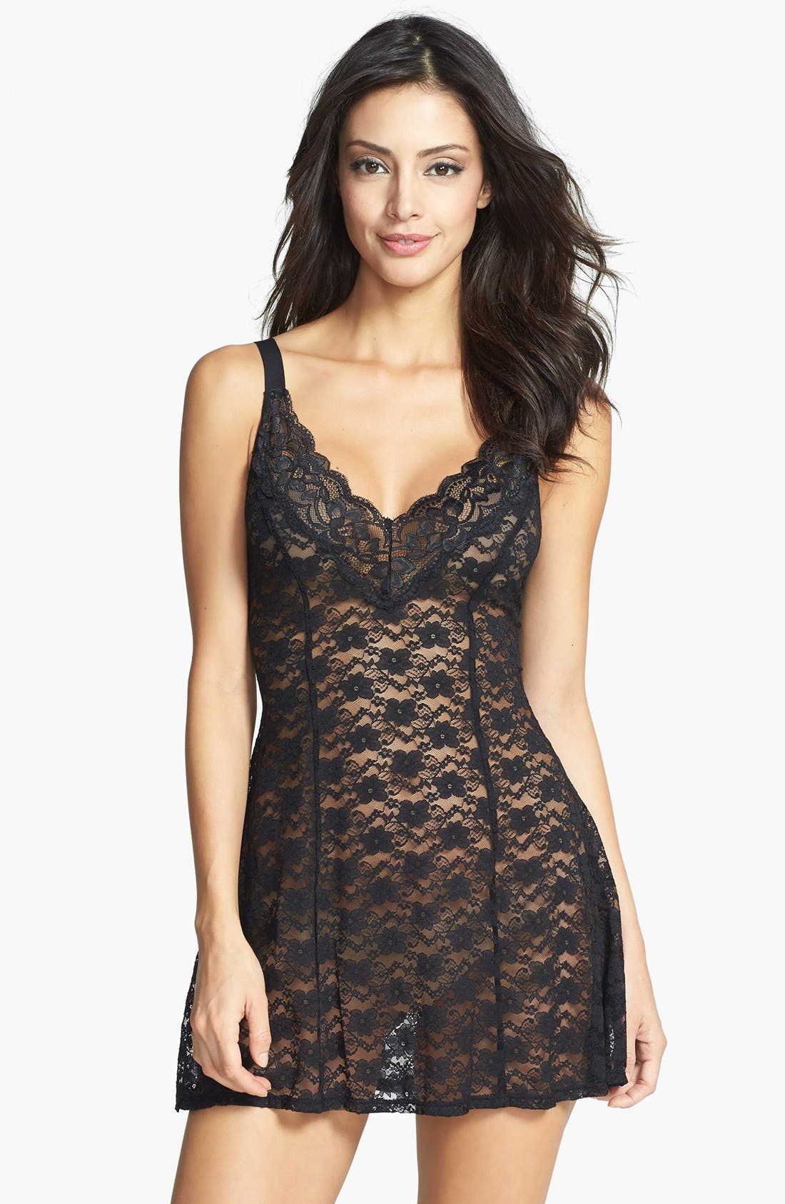 Main Image - In Bloom by Jonquil Lace Babydoll Chemise