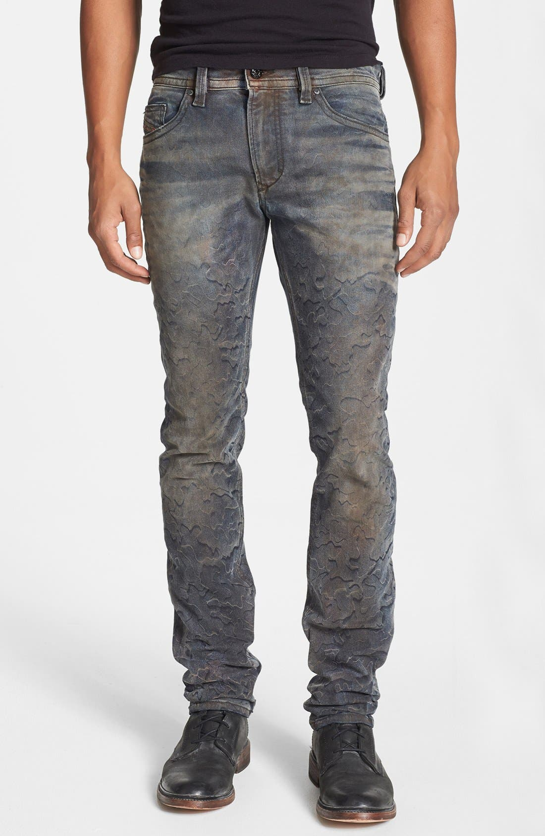 Alternate Image 1 Selected - DIESEL® 'Thavar' Skinny Fit Jeans (0821C)