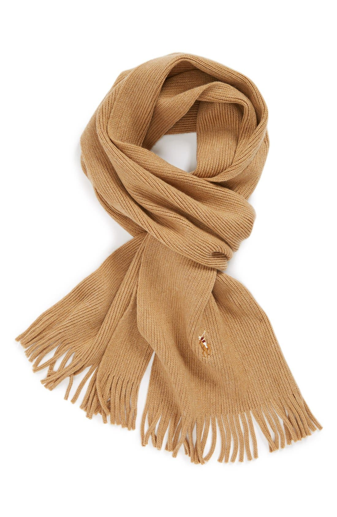 Alternate Image 1 Selected - Polo Ralph Lauren Merino Wool Scarf