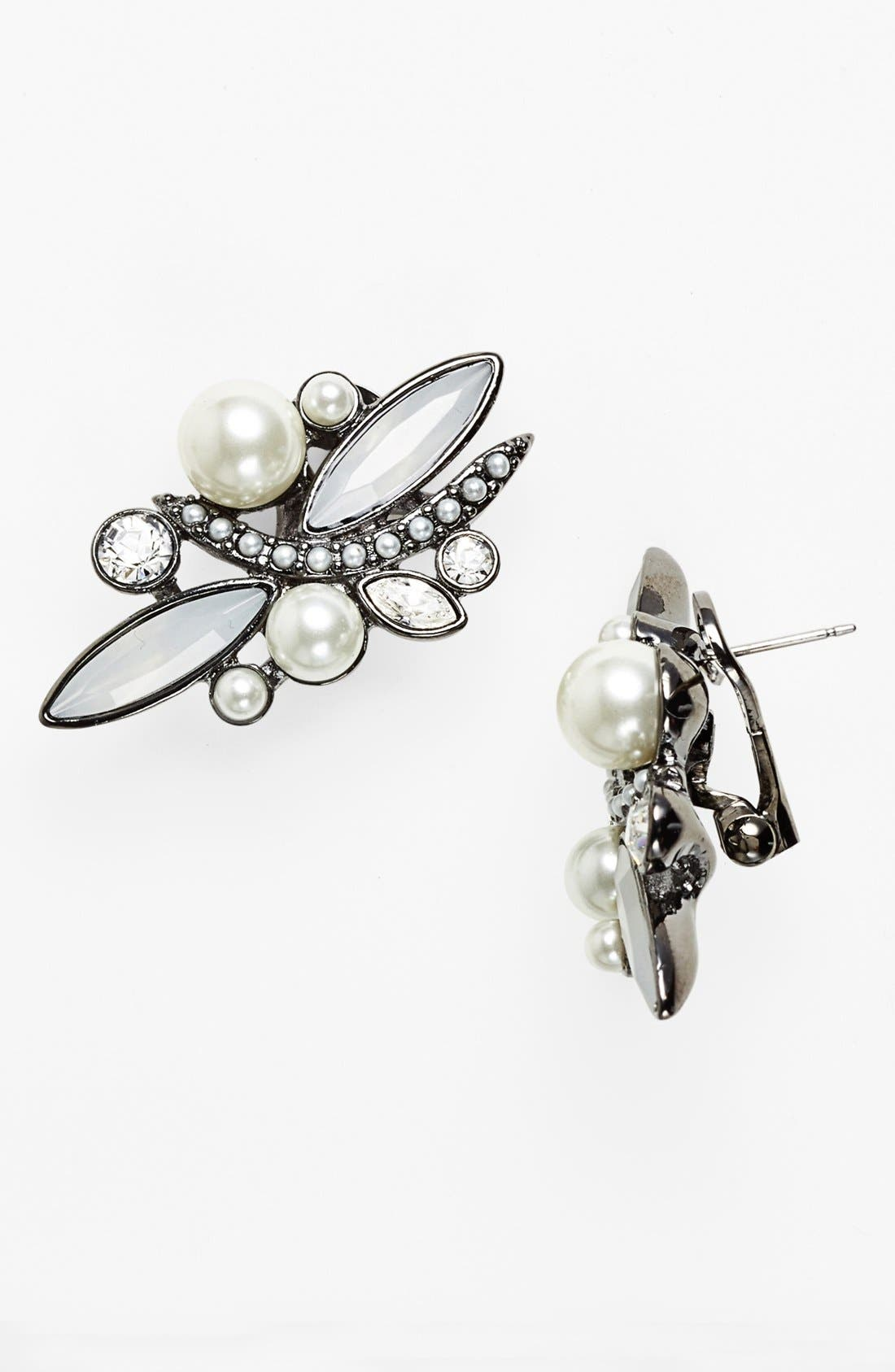 Alternate Image 1 Selected - Givenchy Glass Pearl & Crystal Stud Earrings (Nordstrom Exclusive)
