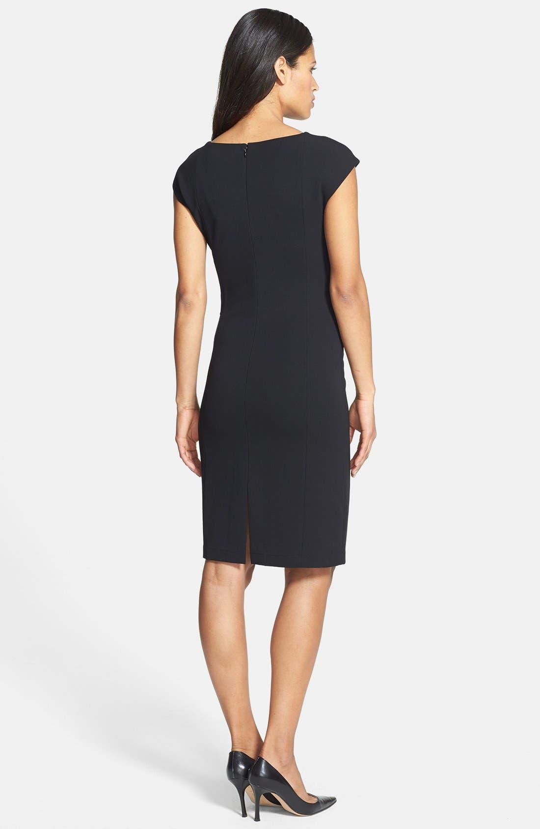 Alternate Image 2  - Lafayette 148 New York Square Neck Knit Sheath Dress