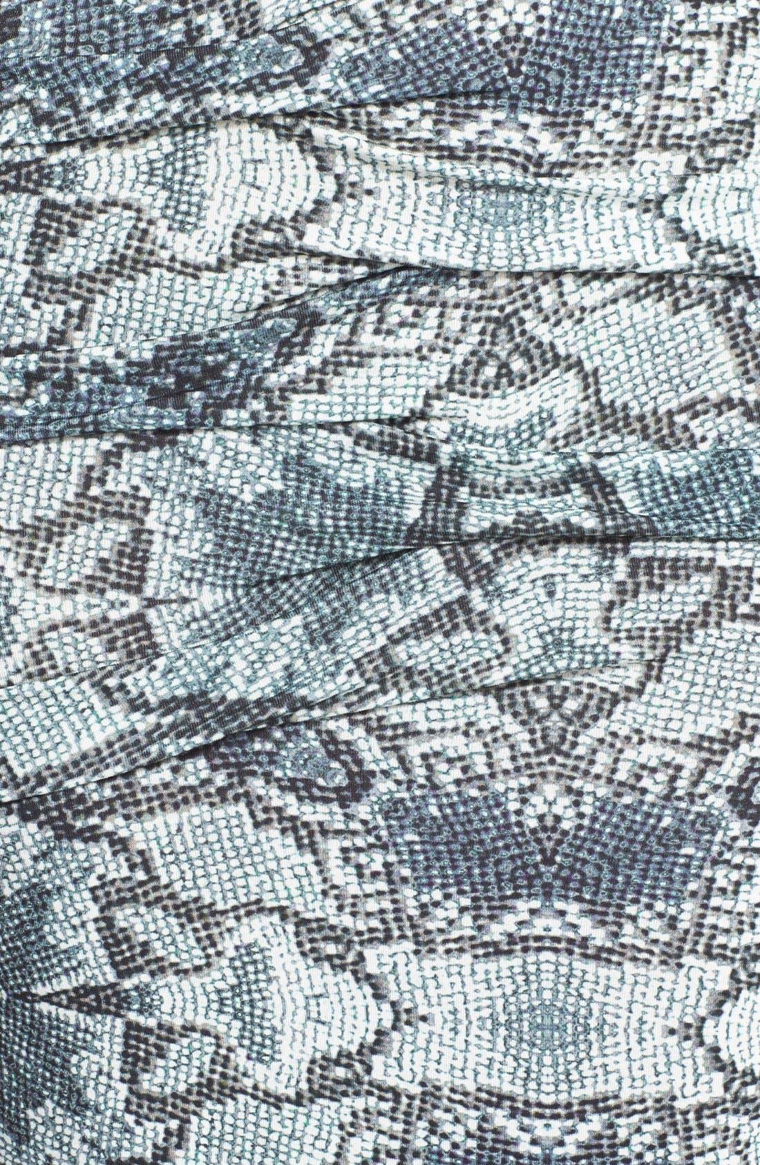 Alternate Image 3  - Nicole Miller Pleated Print Maxi Dress