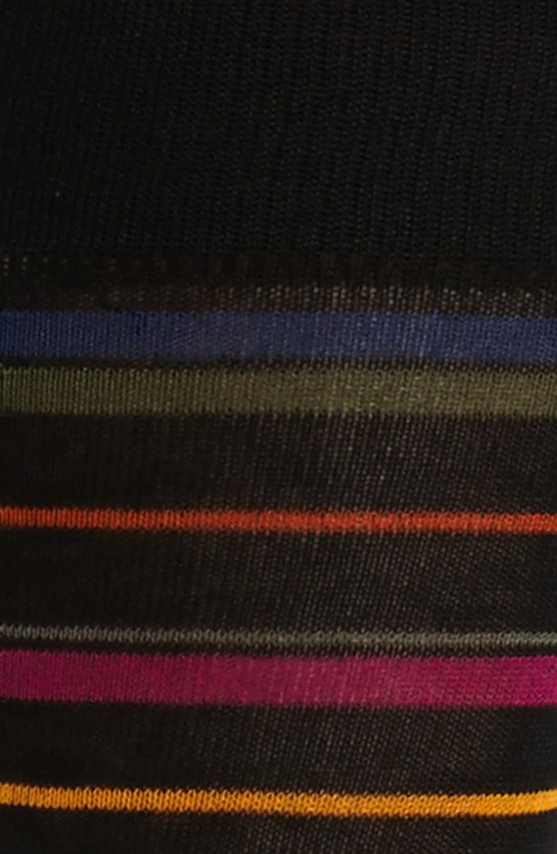 Alternate Image 2  - Bugatchi Stripe Mercerized Cotton Blend Socks
