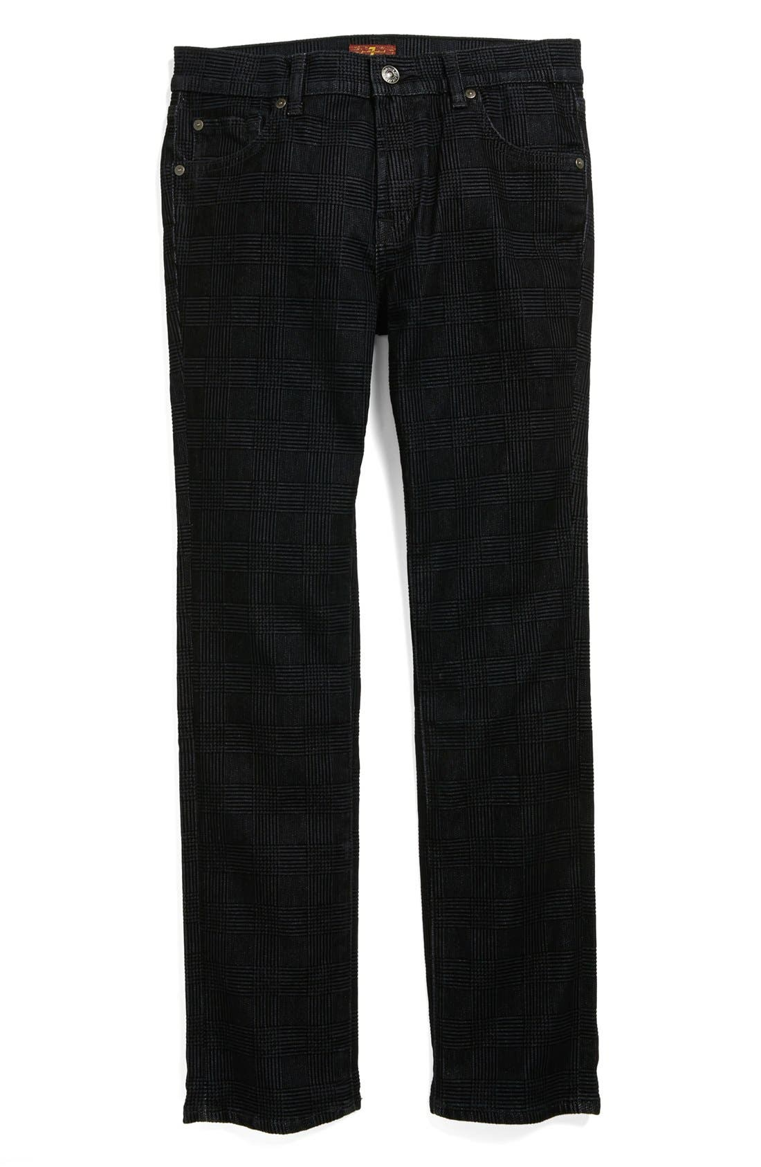 Alternate Image 1 Selected - 7 For All Mankind® 'Slimmy' Straight Leg Jeans (Big Boys)