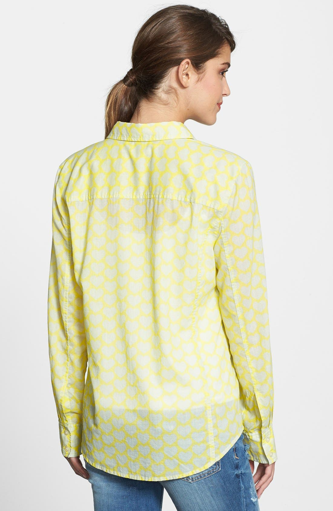 Alternate Image 2  - Caslon® Cotton Blend Blouse