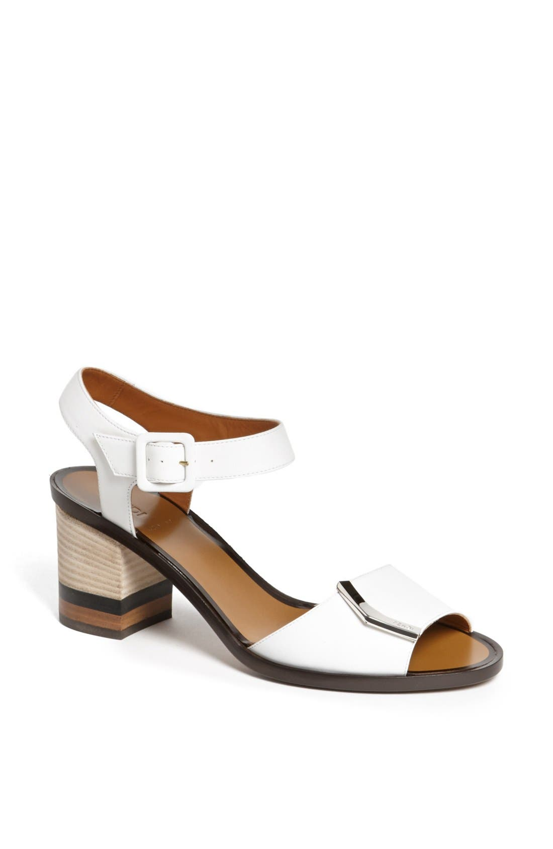 Alternate Image 1 Selected - Fendi 'Demetra' Block Heel Sandal