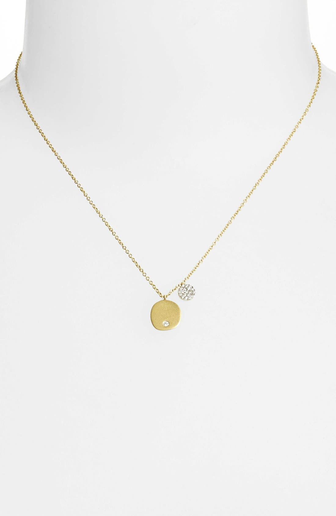 Charmed Diamond Pendant Necklace,                             Alternate thumbnail 2, color,                             Yellow Gold