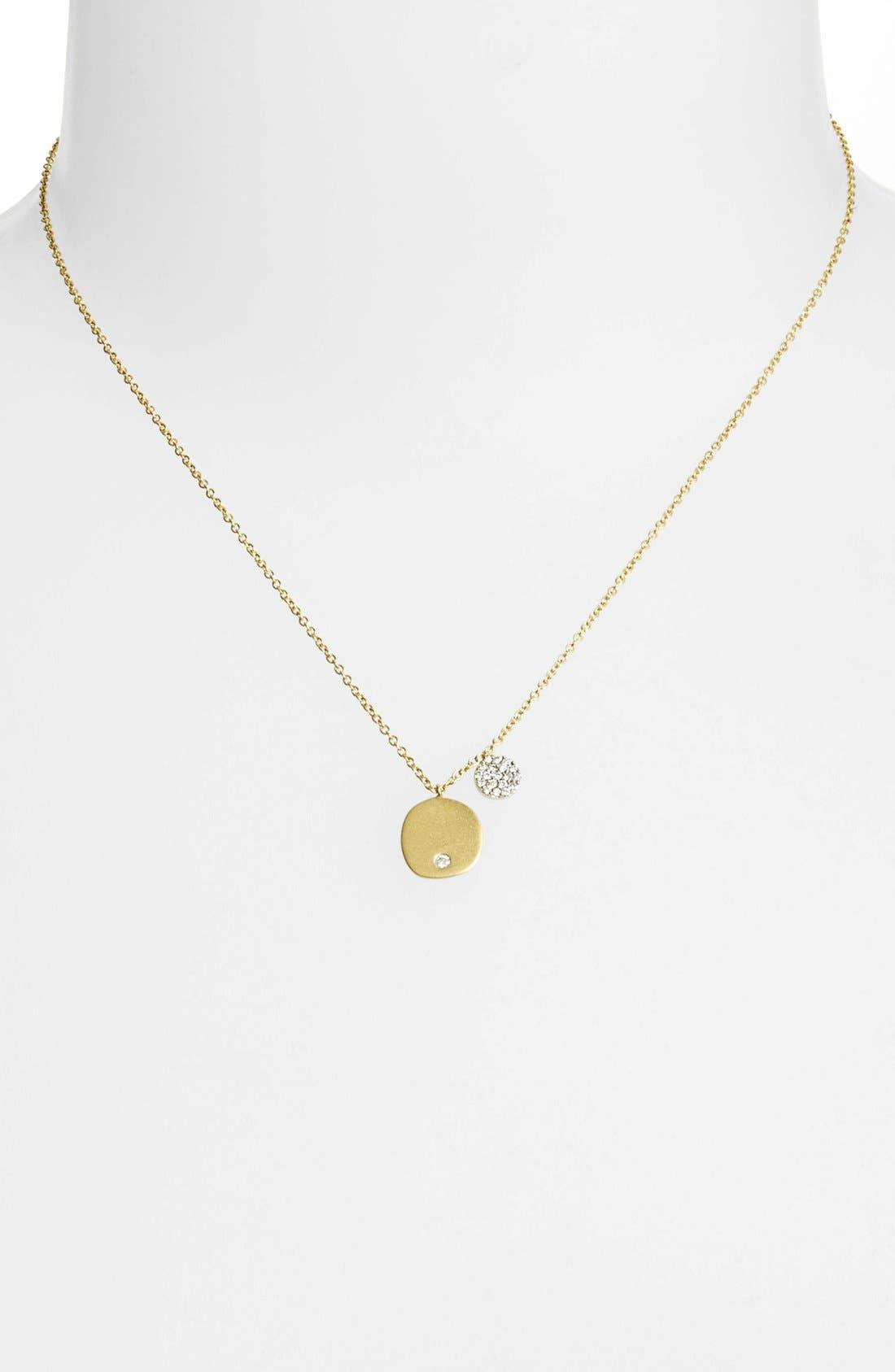 Alternate Image 2  - Meira T Charmed Diamond Pendant Necklace
