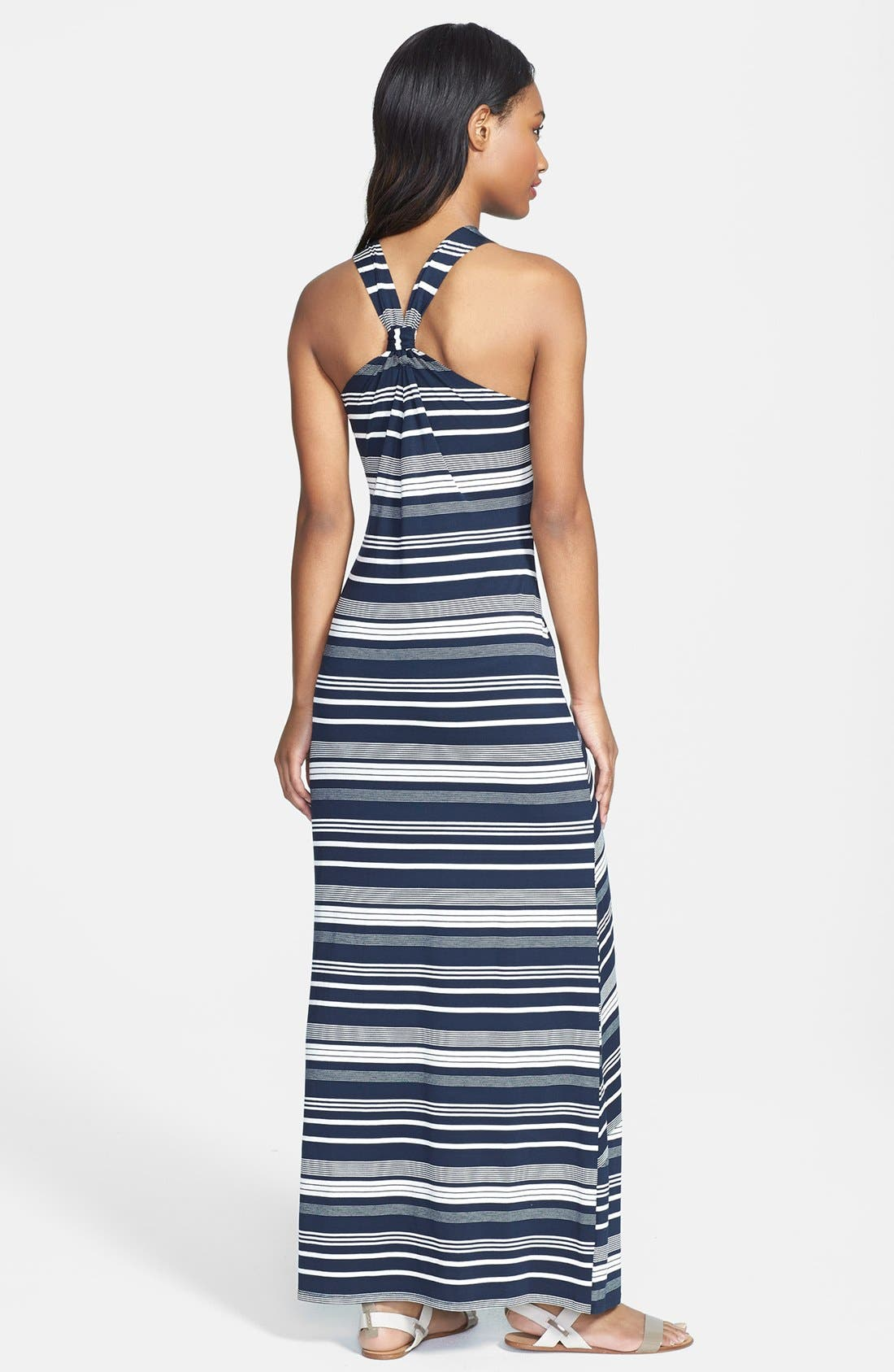 Alternate Image 2  - Olive & Oak Banded Stripe Racerback Maxi Dress