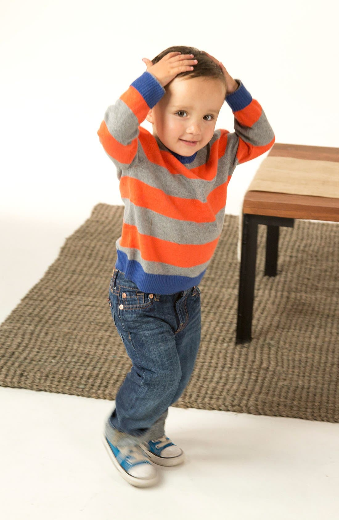 Alternate Image 1 Selected - Tucker + Tate Stripe Sweater & Jeans (Toddler Boys)