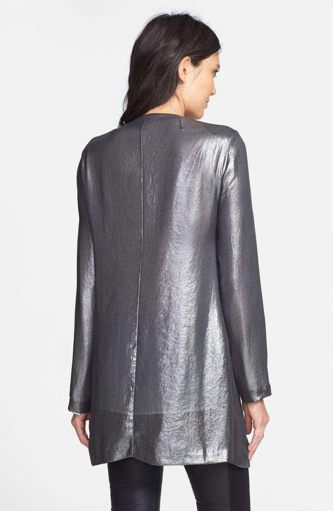 Alternate Image 2  - ASTR Open Front Metallic Jacket