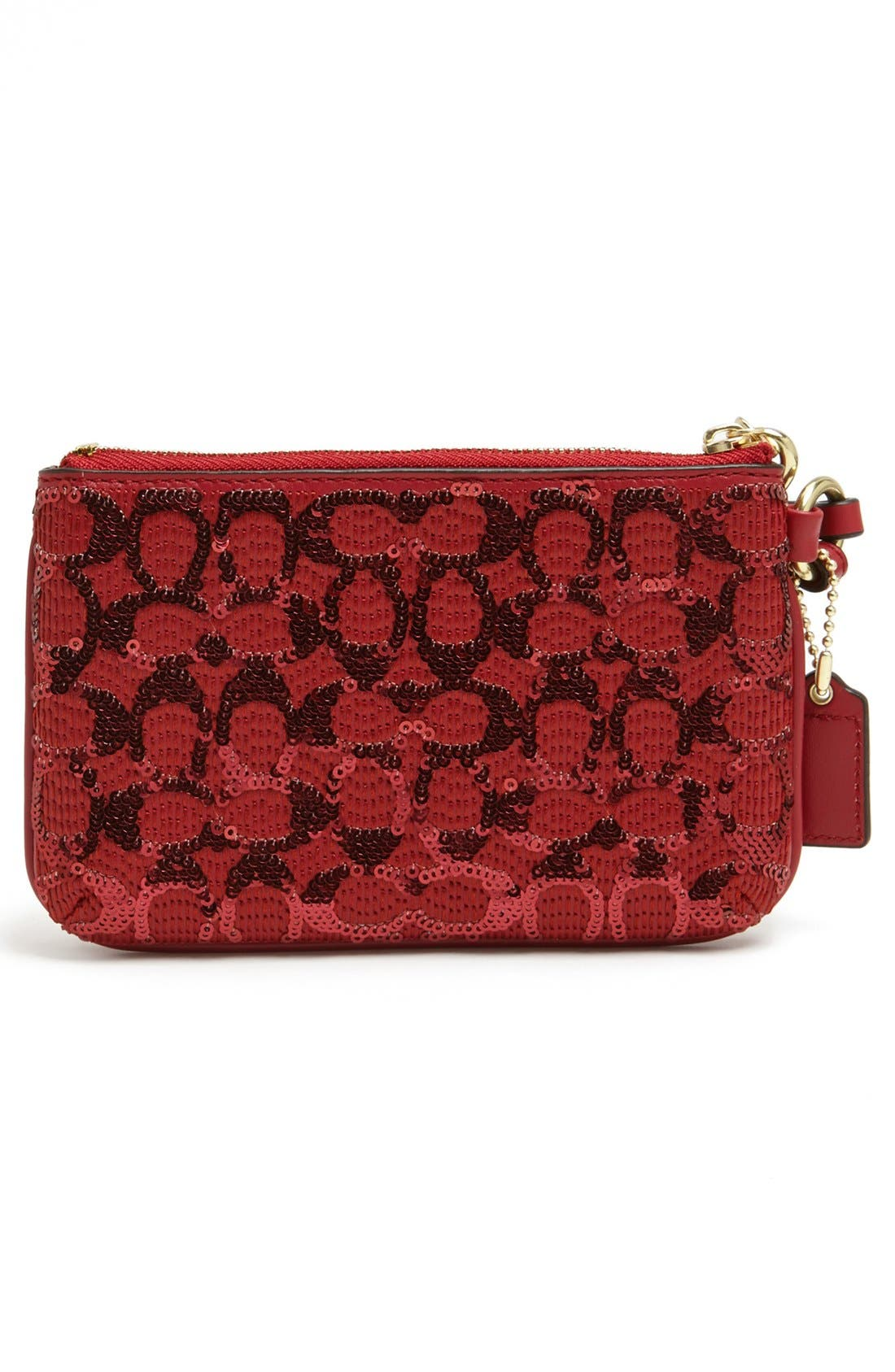 Alternate Image 3  - COACH 'Signature' Sequin Wristlet