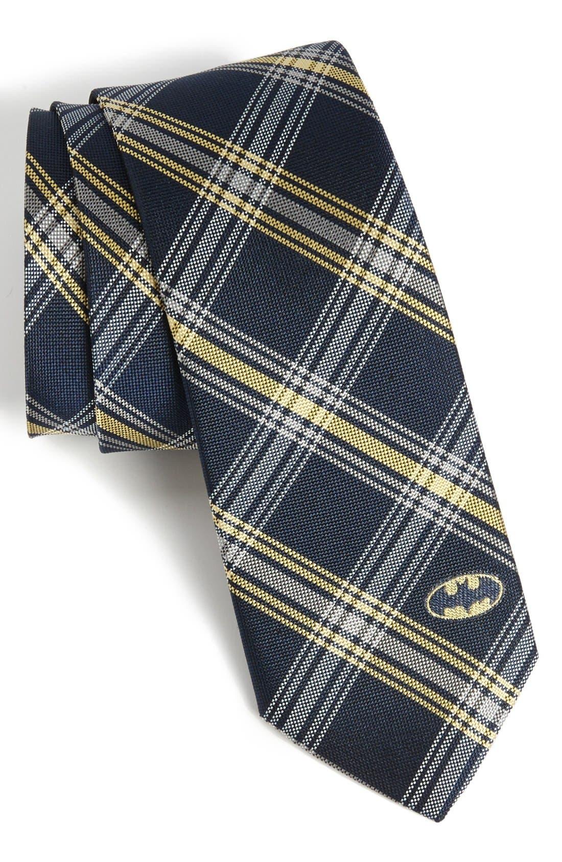 Alternate Image 1 Selected - DC Comics Batman Plaid Tie